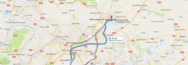 Taxi from Charles de Gaulle to Paris Centre